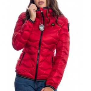 PIUMINO donna A ONDE CON CAPPUCCIO MONICA | colore rosso | Marca BLAUER