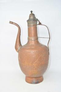 Copper Jug With Lid H 45 Cm