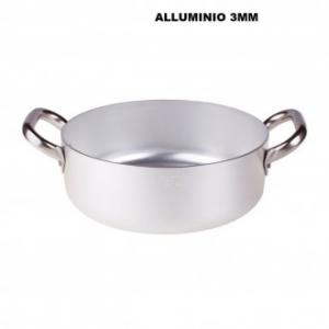 Casseruola Bassa 32 Cm Con Due Manici Argento Resistenti Pentole In Alluminio Professionale Casa Cucina