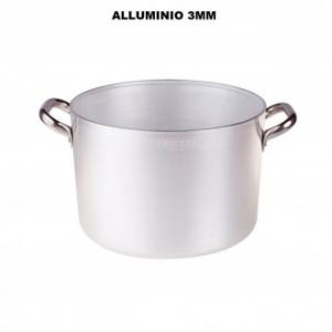Casseruola Altissima 32 Cm Con Due Manici 3 mm Di Spessore In Alluminio Pentola Professionale Casa Cucina