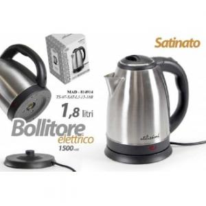 Bollitore Elettrico Capienza 1,8 Litri Satinato 1500 Watt Per Bollire Thè Tisane Latte E Altro Casa Cucina