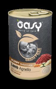 OASY UMIDO GRAIN FREE PUPPY AGNELLO CON VERDURE 400 GR