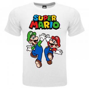 Super Mario maglietta manica corta Luigi & Mario dalla taglia 3 ai 15 anni
