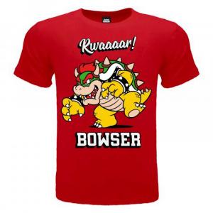 Super Mario maglietta manica corta Bowser dalla taglia 3 ai 15 anni