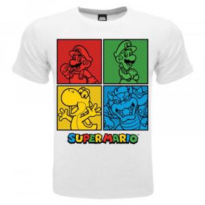 Super Mario maglietta manica corta Personaggi dalla taglia 3 ai 15 anni