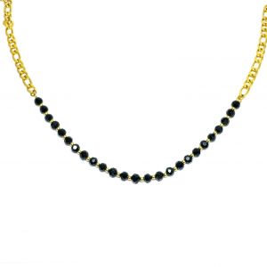 COLLANA PERLE NERE GOLD or SILVER