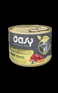 OASY UMIDO GRAIN FREE ADULT MANZO CON ZUCCHINE E CAROTE 200 GR