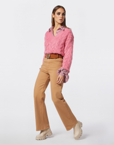 Pullover in lana | colore rosa o nero | Marca Jijil