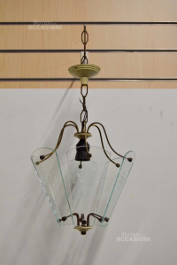 Iron Lamp And Glass Style Liberty Vintage 30 Cm