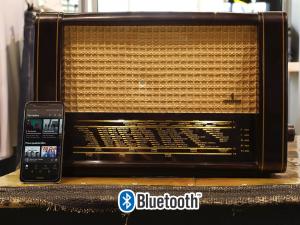 Siemens Spezial-Super 51 radio vintage originale del 1951 trasformata bluetooth