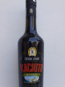 Liquore amaro KACIUTO 50cl fatto con Bergamotto di Reggio Calabria , Finocchietto, Alloro ,Liquirizia.  Ditta La Spina Santa Bova Marina (RC)