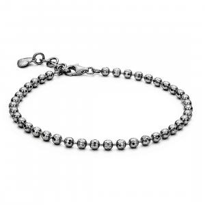 Bracciale Rosato Storie in argento 925 con sfere rutenio RZB014