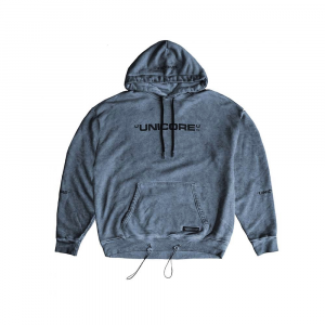 UNICORE Hoodie Dirty Logo Grey