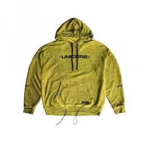 UNICORE Hoodie Dirty Logo Yellow
