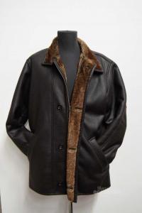 Jacket Man Bugatti Brown With Fur Internal Size.46