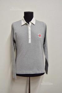 T-shirt Polo Woman Gant Size L Gray