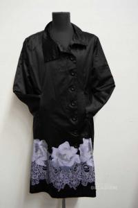 Trench Coat Woman Desigual Size Lxl Black