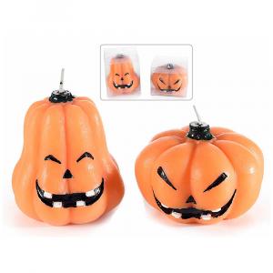Candela Halloween a zucca in confezione pvc