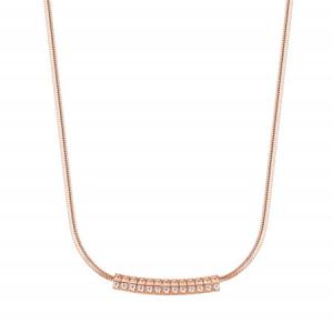 Collana girocollo Rosato Cubica  in argento 925 rosè con zirconi bianchi RZCU54