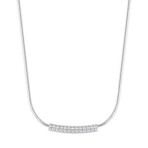 Collana girocollo Rosato Cubica  in argento 925 con zirconi bianchi RZCU53