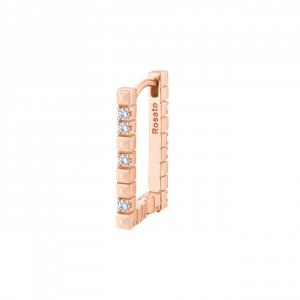 Orecchino rettangolare Rosato Cubica  in argento 925 rosè RZCU64