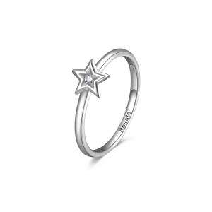 Anello stella Rosato Allegra in argento 925 e zircone RZA027C