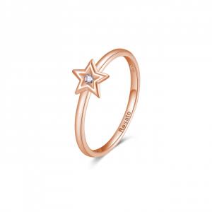 Anello stella Rosato Allegra in argento 925 rosè e zircone RZA028D