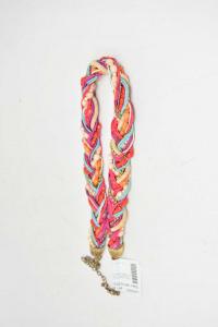 Collana Con Perline Colorate Intrecciata