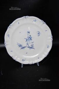 Plate Antique French - Fayansier De Moustiers Jean Louis Stefani 25 Cm