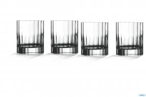 Linea Bach Set 6 Bicchieri Dof In Vetro Trasparente Decorato 33 Cl Per Rum Whiskey E Liquori Collezione Bicchieri Casa Cucina
