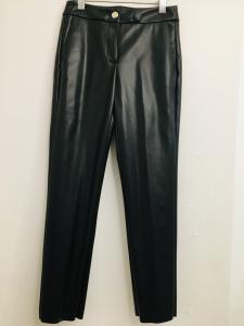 Pantalone donna  ecopelle nera   modello skinny  made in Italy