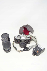 Machine Photographic Reflexminoltaxg1 With 2 Objectives 28mm And 55 Mm + Flesh 221cb