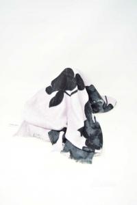 Foulard Half Season Woman Calvin Klein Lilac And Flowers Black