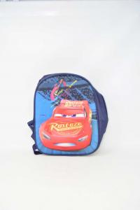 Backpack Kids Blue Dark Cars 32x23 Cm