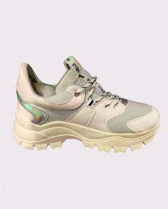 Sneaker Running donna Bianco/argento | Marca GAELLE PARIS