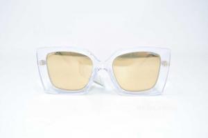 Occhiali Da Sole Chanel 6051 C.660/T6 53-19 Modello Plastificato Trasparente