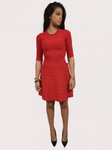 Vestito maglia stretch con motivo a cuori | colore rosso | Marca LOVE MOSCHINO