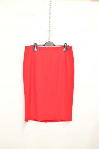 Skirt Woman Red Luisa Spagnoli Size 48