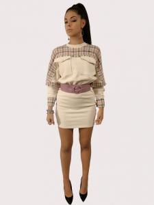 Vestito abito corto | colore Beige | Marca Jijil
