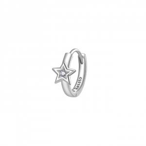 Orecchino cerchietto star Rosato in argento 925 con zirconi RZO065R