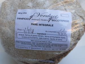 Fresa Integrale 500g. Panificio e Biscottificio VERDUCI di Ambrogio Teodoro Motta San Giovanni (RC).