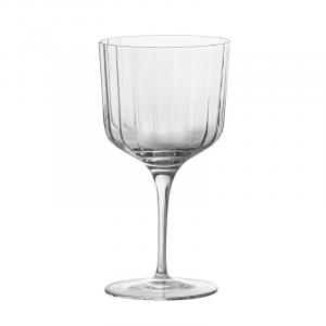 Linea Bach Gin Glass 4 Calici In Vetro Trasparente Decorato Per Long Drink Gin e Altro Raffinato Collezioni Bicchieri Casa