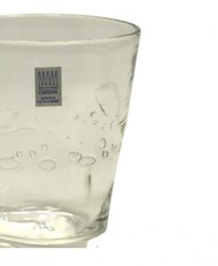 Bicchiere colorato con bolle TRASPARENTE Samoa