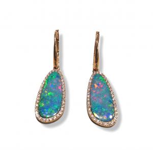 Orecchino Pendente Opale Australiano