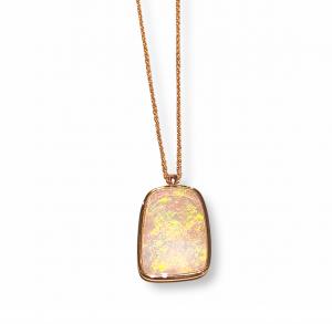 Collana girocollo con Opale Australiano