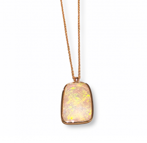Collana girocollo con Opale Australiano-2