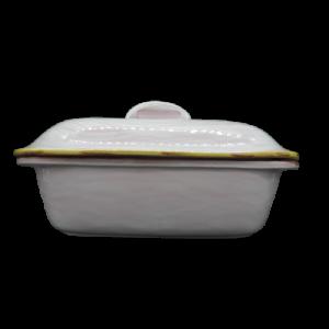 Brandani pentola ovale terracotta con coperchio