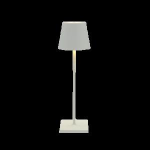 Lampada da tavolo ricaricabile bianca