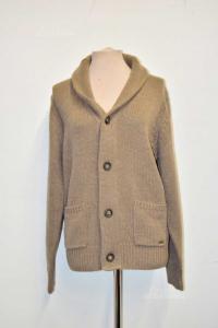 Sweater Man Beige Iclub Nazarenogabrielli Sizexx L