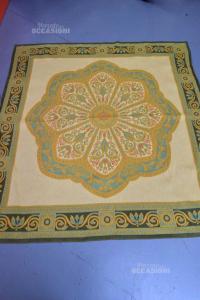 Carpet In Wool Green Beige Size 155*166 Cm